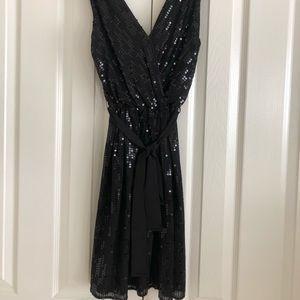 Express dressy black sequins dress
